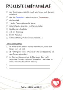 Packliste für LaufMamaLauf