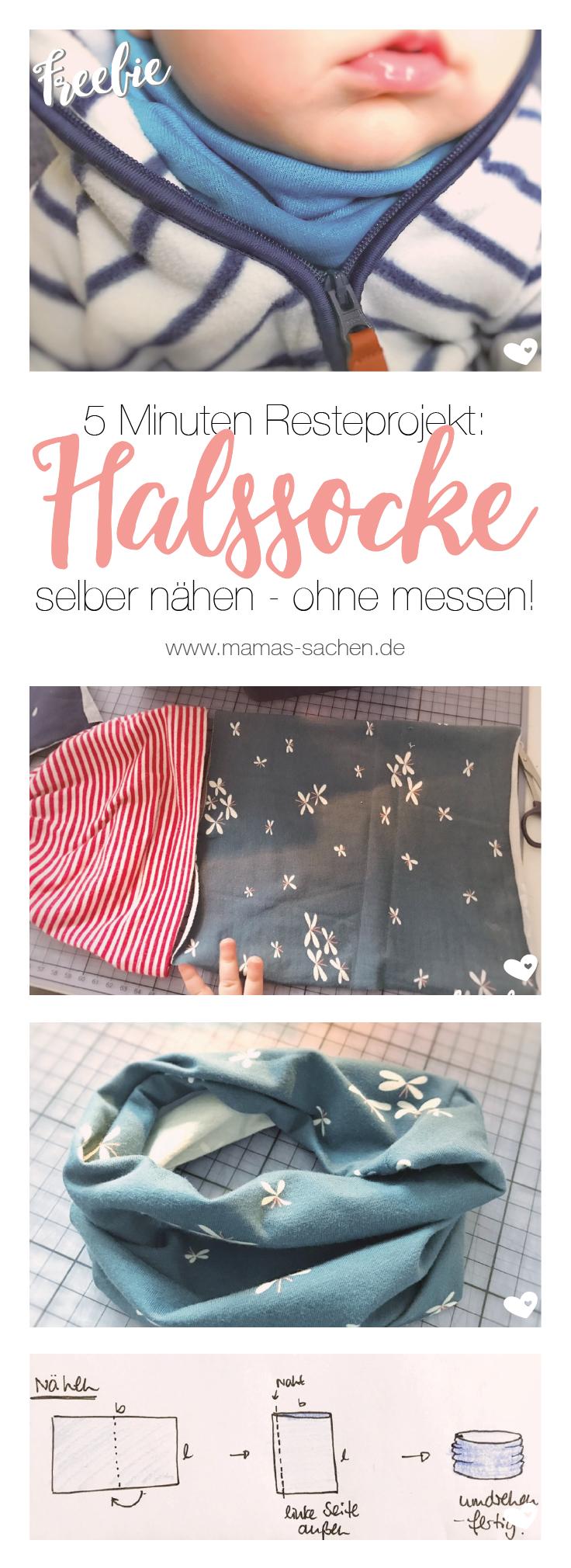 Halssocke nähen - kostenlose Anleitung und Schnittmuster - Mamas Sachen