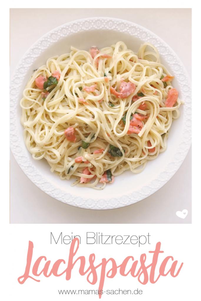Rezept | Blitzrezept | schnell | Lachs | Pasta | Nudeln | lecker | gesund | keine Zeit | kochen