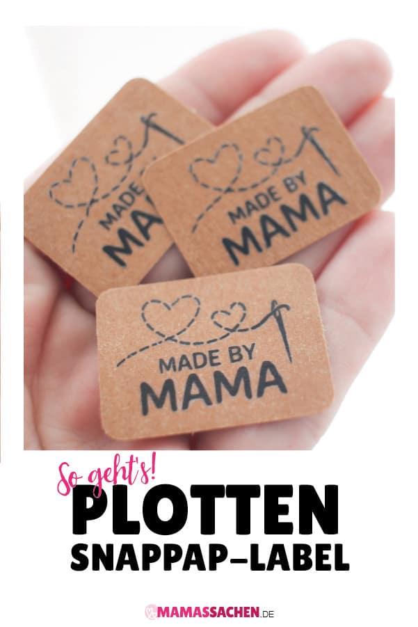 Plotten, SnapPap, Label, selber machen, Anleitung, made by, Handmade