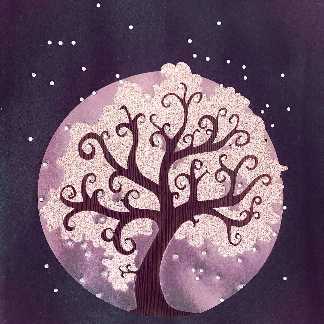 Sternenbaum Plotten mit Strass