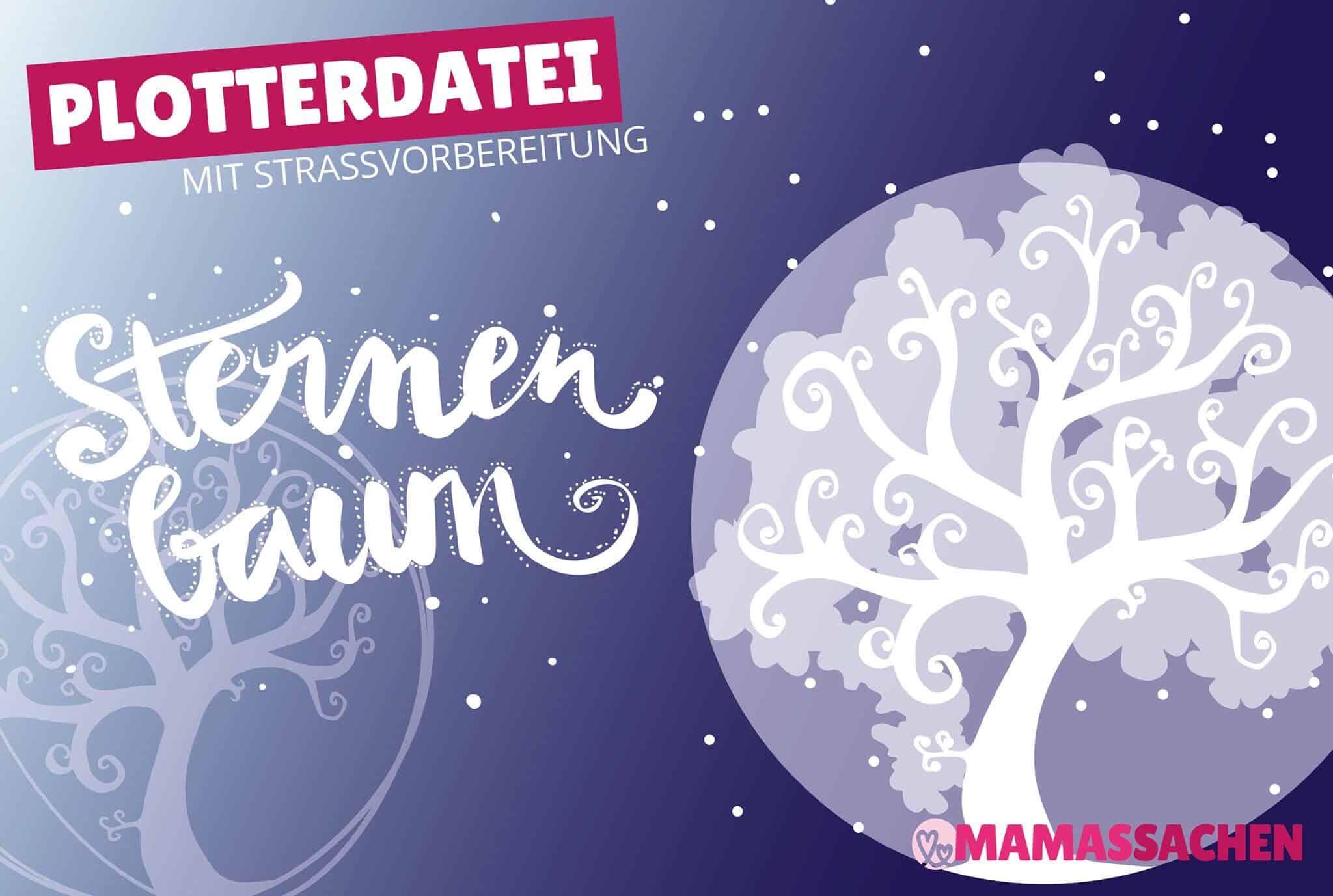 Sternenbaum – Plottdatei mit Strassvorbereitung | Plottdesign