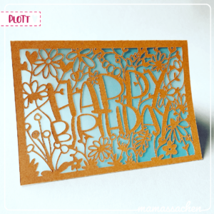 mamas sachen Blumenwiese karte Happy Birthday plotterdatei