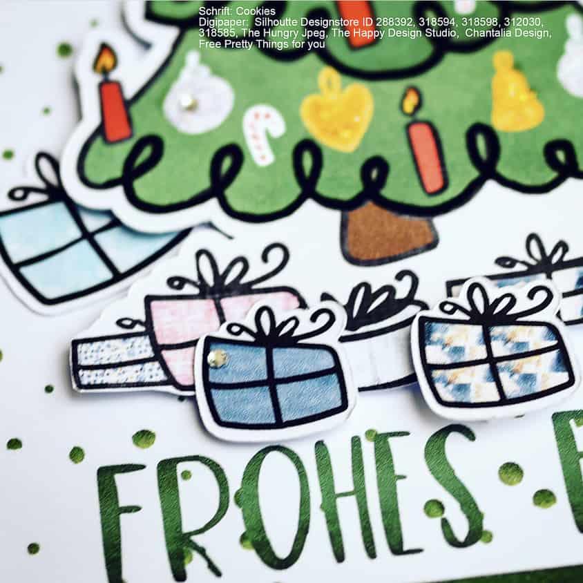 weihnachtsbaum - adventsbild | kinderplott - mamassachen